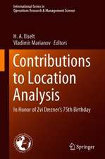 Contributions to Location Analysis