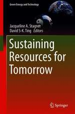 Sustaining Resources for Tomorrow