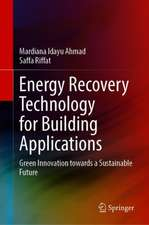 Energy Recovery Technology for Building Applications: Green Innovation towards a Sustainable Future