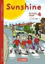 Sunshine 4. Jahrgangsstufe. Activity Book mit Audio-CD und Minibildkarten. Bayern