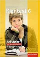 Klartext 6. Arbeitsheft 6 mit Lösungen: plus Online-Übungen. Ausgabe Südwest