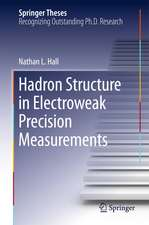 Hadron Structure in Electroweak Precision Measurements