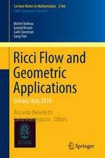 Ricci Flow and Geometric Applications