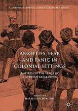 Anxieties, Fear and Panic in Colonial Settings: Empires on the Verge of a Nervous Breakdown