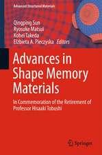 Advances in Shape Memory Materials: In Commemoration of the Retirement of Professor Hisaaki Tobushi