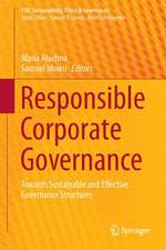 Responsible Corporate Governance: Towards Sustainable and Effective Governance Structures