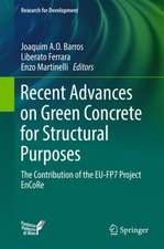 Recent Advances on Green Concrete for Structural Purposes