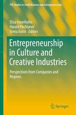 Entrepreneurship in Culture and Creative Industries: Perspectives from Companies and Regions