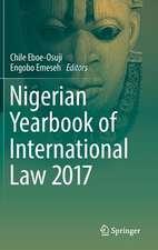 Nigerian Yearbook of International Law 2017