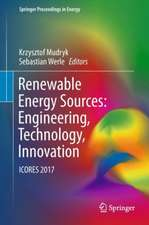 Renewable Energy Sources: Engineering, Technology, Innovation: ICORES 2017