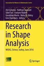 Research in Shape Analysis: WiSH2, Sirince, Turkey, June 2016