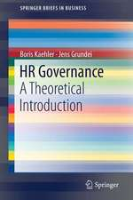 HR Governance: A Theoretical Introduction