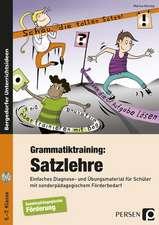 Grammatiktraining: Satzlehre