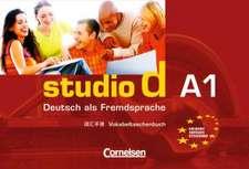 studio d .Gesamtband 1. Vokabeltaschenbuch. Deutsch-Chinesisch(Einheit 1-12) - Europäischer Referenzrahmen: A1