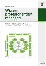 Wissen prozessorientiert managen