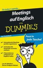 Meetings auf Englisch für Dummies