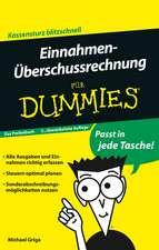 Einnahmen–Überschussrechnung für Dummies Das Pocketbuch