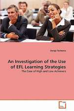An Investigation of the Use of EFL Learning Strategies