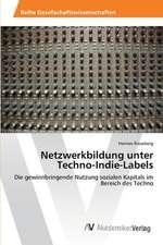 Netzwerkbildung unter Techno-Indie-Labels