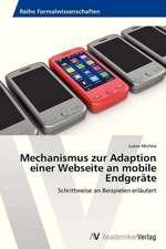 Mechanismus zur Adaption einer Webseite an mobile Endgeräte