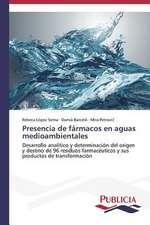 Presencia de Farmacos En Aguas Medioambientales