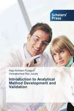 Introduction to Analytical Method Development and Validation