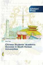 Chinese Students' Academic Success in South Korean Universities