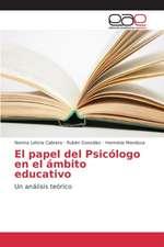 El Papel del Psicologo En El Ambito Educativo