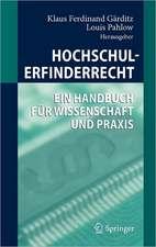 Hochschulerfinderrecht: Ein Handbuch für Wissenschaft und Praxis