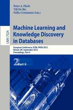 Machine Learning and Knowledge Discovery in Databases: European Conference, ECML PKDD 2012, Bristol, UK, September 24-28, 2012. Proceedings, Part II