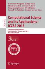 Computational Science and Its Applications -- ICCSA 2013: 13th International Conference, ICCSA 2013, Ho Chi Minh City, Vietnam, June 24-27, 2013, Proceedings, Part III