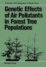 Genetic Effects of Air Pollutants in Forest Tree Populations: Proceedings of the Joint Meeting of the IUFRO Working Parties Genetic Aspects of Air Pollution Population and Ecological Genetics Biochemical Genetics held in Großhansdorf, August 3–7, 1987