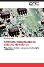 Software Para Balanceo Estatico de Rotores