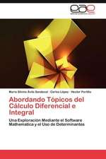 Abordando Topicos del Calculo Diferencial E Integral:  Alumnos Con Necesidades Educativas Especiales