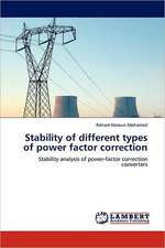 Stability of different types of power factor correction