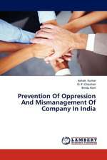 Prevention Of Oppression And Mismanagement Of Company In India