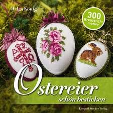 Ostereier schön bestickt