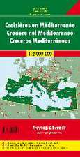Mittelmeerländer Kreuzfahrten. Autokarte 1 : 2.000.000