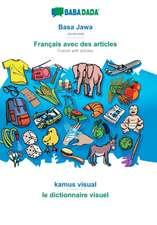 BABADADA, Basa Jawa - Français avec des articles, kamus visual - Dictionnaire d'image