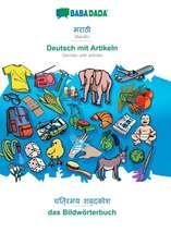BABADADA, Marathi (in devanagari script) - Deutsch mit Artikeln, visual dictionary (in devanagari script) - das Bildwörterbuch