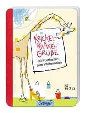Krickel-Krakel-Grüße. 30 Postkarten zum Weitermalen