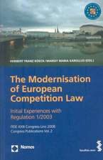The Modernisation of the European Competition Law