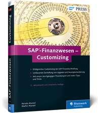 SAP-Finanzwesen - Customizing