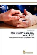 Wer Wird Pflegender, Wer Nicht?:  Measurement and Source Allocation