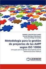 Metodologia para la gestión de proyectos de las AAPP según ISO 10006