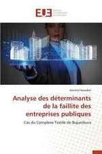 Analyse Des Determinants de La Faillite Des Entreprises Publiques:  La Realite D'Un Decollage Poussif