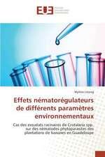 Effets Nematoregulateurs de Differents Parametres Environnementaux:  Essai de Modelisation Pour La Bceao