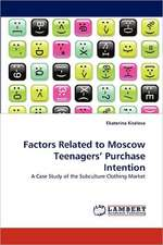 Factors Related to Moscow Teenagers' Purchase Intention