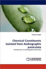 Chemical Constituents Isolated from Andrographis paniculata