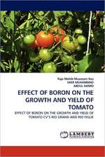 Effect of Boron on the Growth and Yield of Tomato